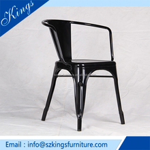 New Hot Sale Modern Classic Metal Chair Black Metal Dining Chair
