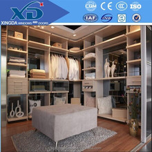 Europe design built in high gloss solid wood wardrobe from China manufacture