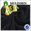 Mulinsen Textile Plain Woven 100% Polyester 68'' Wide Width Formal Black Muslim Jet Black Abaya Fabric Wool Peach Factory Direct
