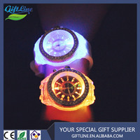 GIFTLINE Different Faces Flashing light Silicone Led Watch