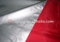 100% polyester silver coated taffeta fabric/raincoat material