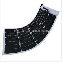 50W High Efficiency Semi Flexible Solar Panel panneau solaire RV Boat