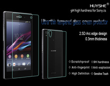 HUYSHE wholesale smart glass film tempered glass screen protector for sony z1 l39h in stock