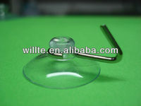 metal hook clear suction cup with header