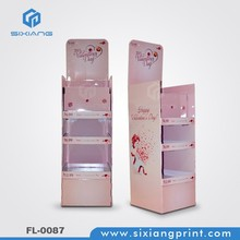 2015 New style Paper cosmetic point of sale display