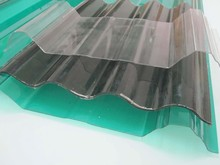 never yellowing waterproof clear corrugated plastic roofing