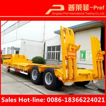 Light Duty Tires Outside Type 2 Axles 30 Tons lowboy truck trailer/Low Bed Trailer/low loader trailer for Sale