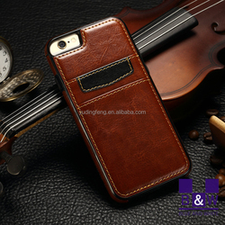 Luxury uttra thin PU leather case for apple iphone 6s, for iphone 6s case back case with card holder