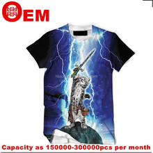 custom digital printing animal 3d t-shirt ,clothing factories in china