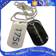 Anodized Aluminum Metal Dog Tags With Printed Logo For Hongkong