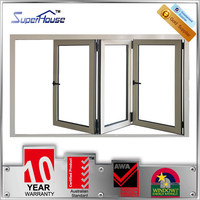 Australia standard bifold windows powder caoted mill finish aluminum window
