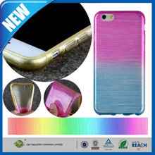 C&T Rainbow color brushed soft tpu mobile phone case for iphone 6s