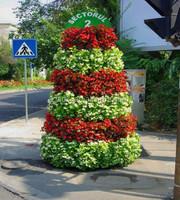 Garden tower Planter VERTICAL GARDEN products/plastic garden flower tower