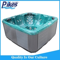 Clear acrylic bathtub foot bath 5 person Garden portable spa tub Balboa system spa tub