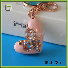 2015 Hot sale Broken Heart resin and alloy cute Keychain
