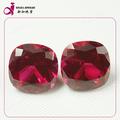 venta caliente 15mm de la plaza roja corindón sintético suelto de piedras preciosas ruby