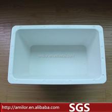 Composite white plant pot,flower pot plant