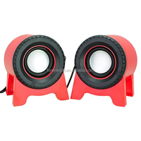2.0 Red Portable Mini USB Speaker for PC iphone/Mp3/laptop with Shape of square shape