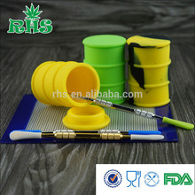 Customized silicone jars dab wax container wax oil barrel ,wax silicone container