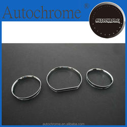 Decorative car accessory accent, chrome dash board gauge ring set for Mercedes Benz W124