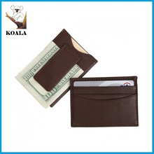 Guangzhou koala leather products customized magnetic money clip card holder