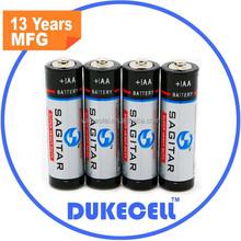 1.5v r6 um3 aa zinc carbon battery supply