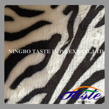 2015 Polyester Faux Fur with Zebra Print Soft for Car and Furniture
