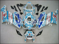 Motorcycle Fairing for Honda CBR1000 CBR 1000RR CBR1000RR 04 05 CBR 1000RR 2004 CBR1000RR 2005 04 05 CBR 1000 white blue flower