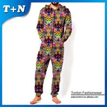 custom printing one piece jumpsuit for men design