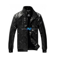 Fashion British Style Men's Stand-Collar Zipper Long Sleeve Coat Jacket
