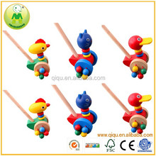 China Wholesale Baby Walking Wood Duck Pull Toy