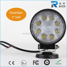 24w round 12V&24V LED Work Light 4WD 4x4 Spot/Flood Car motorcycle