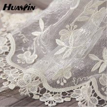100% polyester China Supplier net curtains white