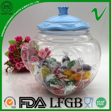 PET wide mouth giant sample free oval shape plastic container with lids
