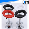 china wholesale adjustable bar stool brushed stainless steel/ swivel bar stool cushion covers round