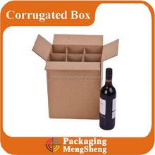 Srtong cardboard 6 pack bottle carrier, take away box for wine/beer, bottle carrier/paper wine box