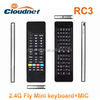 High quality good price Smart Wireless 2.4GHz Handheld Keyboard and air mouse keyboard Combo factory with touchpad