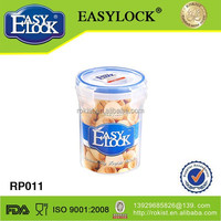 325ml small cylindrical food container with easy lock lid