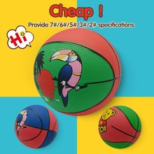 Official size and weight fashion modern cartoon rubber basketball