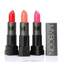 MYBOON Brand New Cosmetic Lip Makeup Batom Matte Round Lipstick Pen Long-lasting Waterproof Moisturizer Lip Cover Batons 3.8g