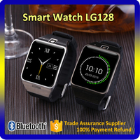 Wrist watch mobile phone LG128 MTK6260 android bluetooth 3.0 bracelet watch with NFC SIM GSM phone watch