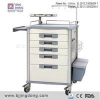 Hospital Medical Emergency Trolley with side rails