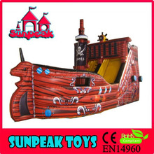 SL-1362 Red Colour Giant Inflatable Pirate Ship Slide