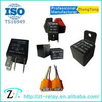 general auto relay 6v 12v 24v 20A 30A 40A 80A relay Zhongtong