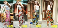 New Fashion Ladies Wide Leg Long Pants Palazzo Trousers Elastic New Floral Print