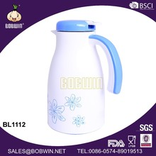 2014 new plastic glass hot and cool coffee water kettle with handle