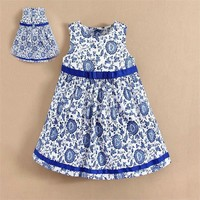 Printed Pattern mom and bab Fashion Kids Girl Dress in Stock Item for Wholesale