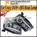Frontlight del abs del coche de la lámpara led halógeno handlamps los faros de automóviles de para chevrolet cruze 09-13