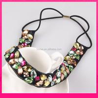 fashion handmade adjustable elastic headbands girls plastic headband