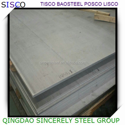 Hairline surface grade 300 series stainless steel plate